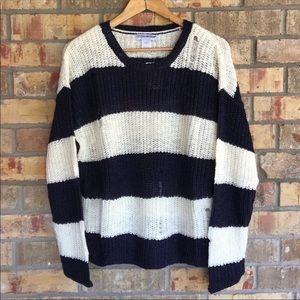 Cotton Emporium Striped Sweaters M